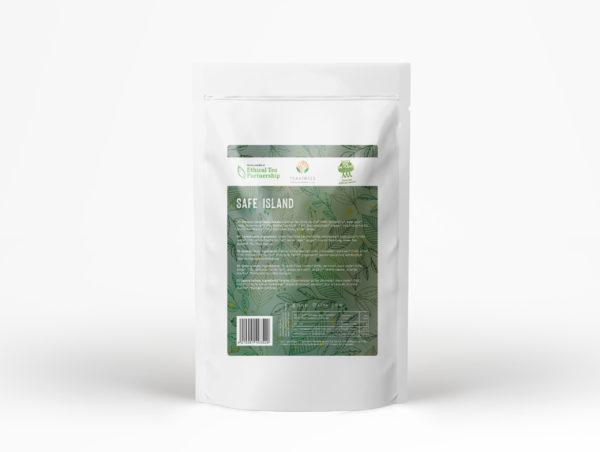 Safe Island Grüner Bio Tee Rückseite